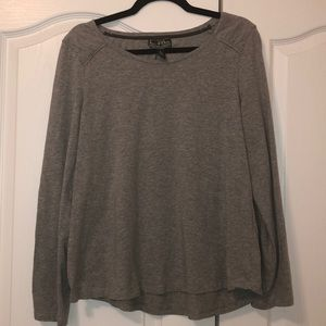 XL gray long sleeve
